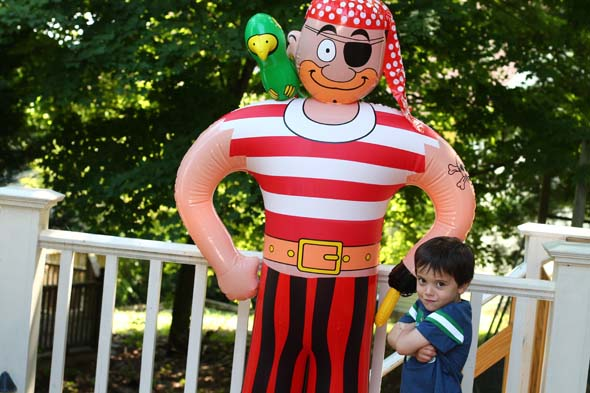 inflatable pirate for pirate party
