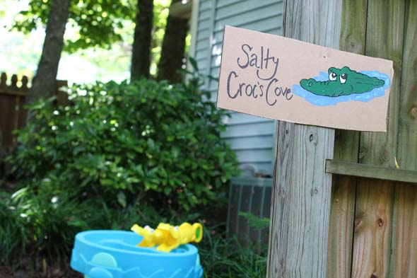 Salty Crocs Cove for Pirate Party Treasure Hunt