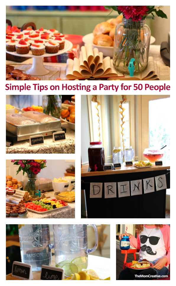 simple tips on hosting a party for 50 people