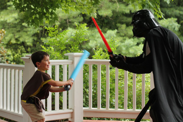 Star Wars birthday party with Darth Vader