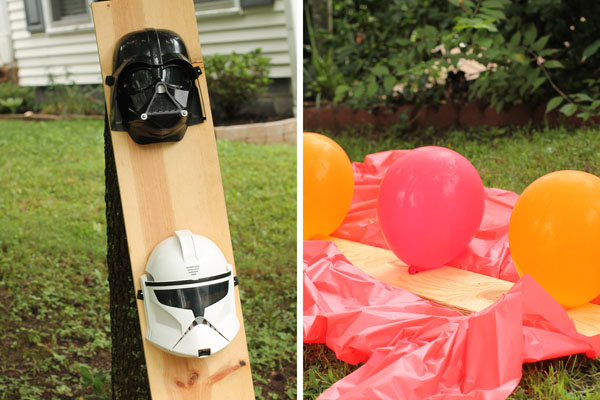Star Wars Birthday Party with Jedi Training Academy games