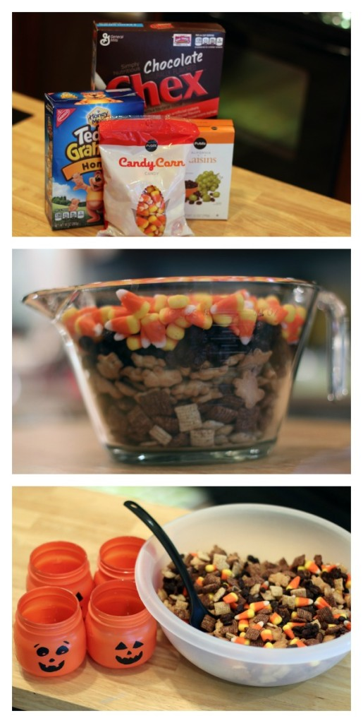 DIY Pumpkin Snack Jars + Yummy Trail Mix Recipe