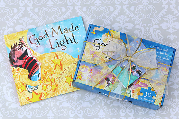 God Made Light book puzzle and encouragement notes