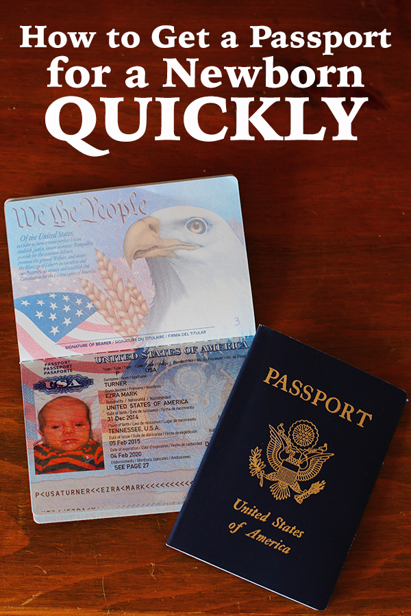 How to get a newborn passport quickly