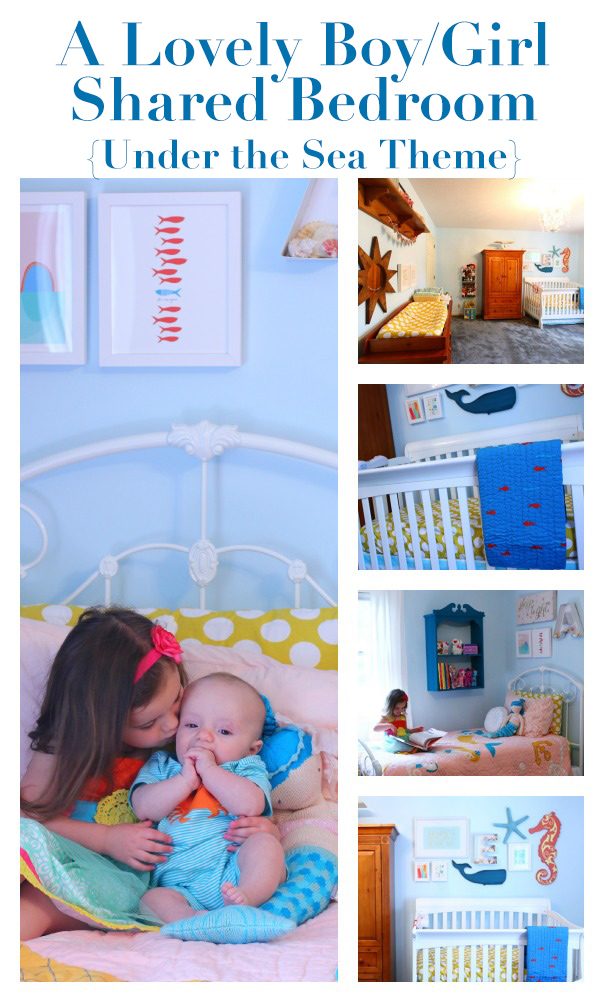 A lovely boy/girl shared bedroom - Under the Sea theme