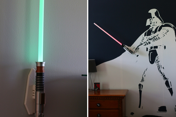 Star Wars Bedroom with Lightsabers
