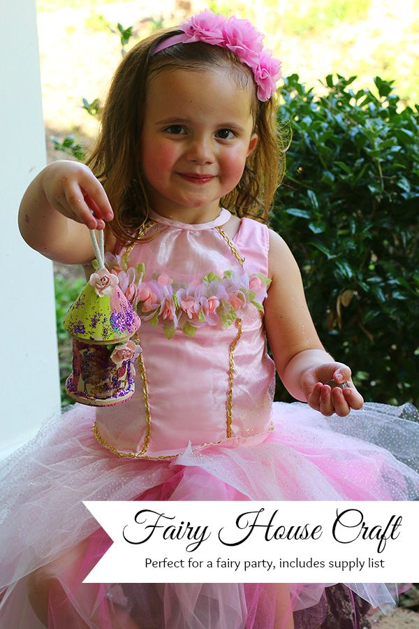 Fairy house craft perfect for a fairy party, includes supply list