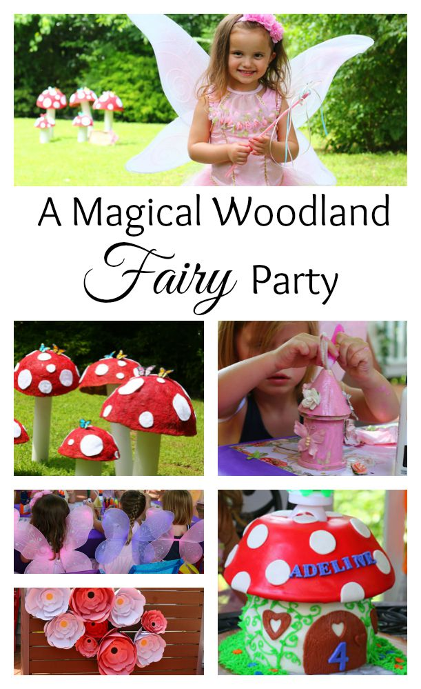 A magical woodland fairy party with DIY decor, a fairy house craft, a woodland treasure hunt, a cake to remember and more. The perfect little girl's party and a must-pin.