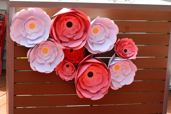 flower decorations at fairy party