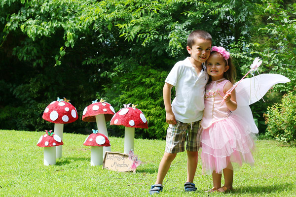 mushrooms for fairy party decorations