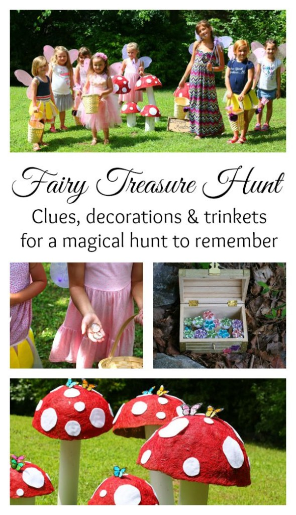 Fairy treasure hunt for a fairy party - clues, decorations and trinkets for a magical hunt to remember