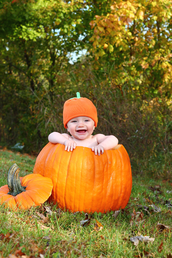Tips for baby pumpkin photos
