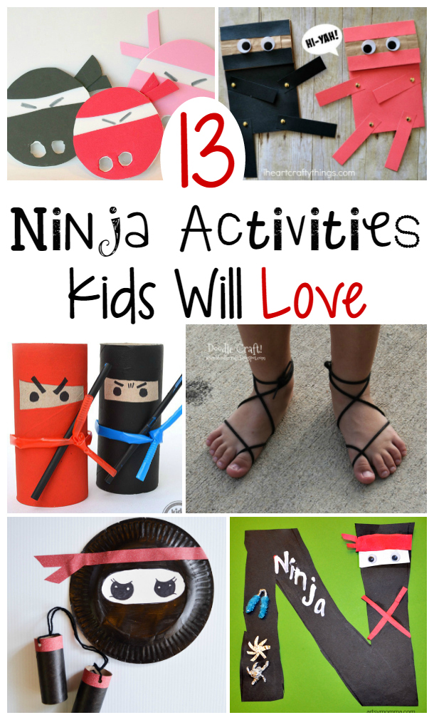 Ninja Crafts and Activities for Kids