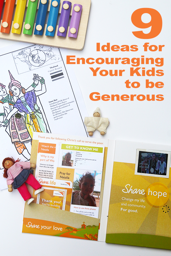 9 Ideas for Encouraging Your Kids to be Generous