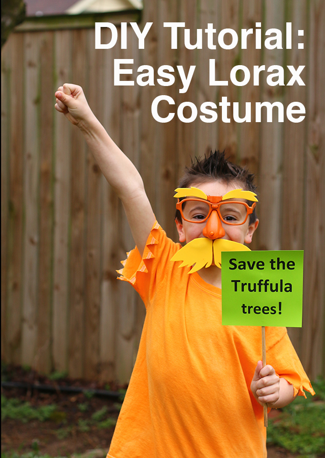 Easy DIY Lorax Costume: Perfect Dr Seuss Book Character Costume