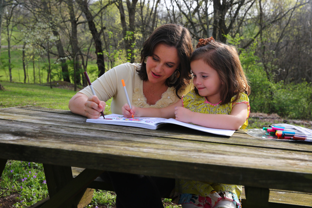 Benefits of coloring with your child