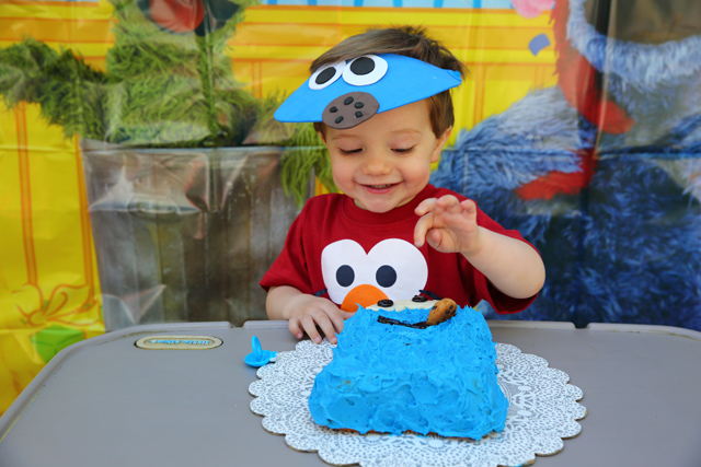 Sesame Street Birthday Party with Cookie Monster Cake