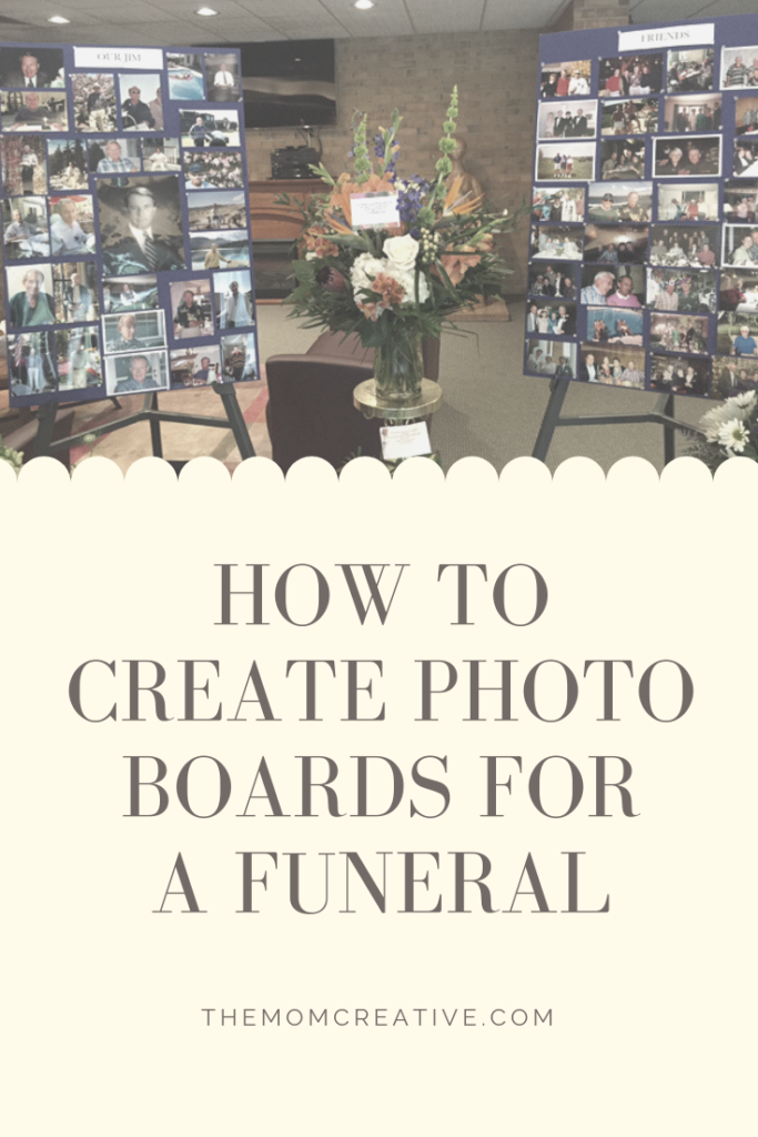 How to Create Photo Boards for a Funeral or other celebration