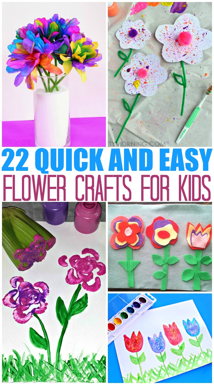 20 quick and easy flower crafts for kids