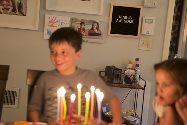 Birthday Idea: Document Older Child's Age With A Letter Board