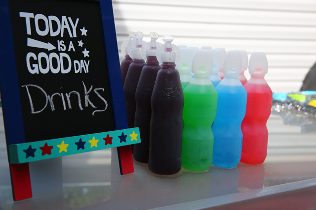 Rainbow juices for Rainbow Party