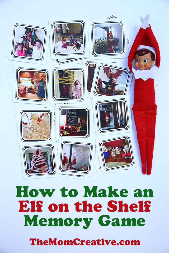 How to make an elf on the shelf memory game