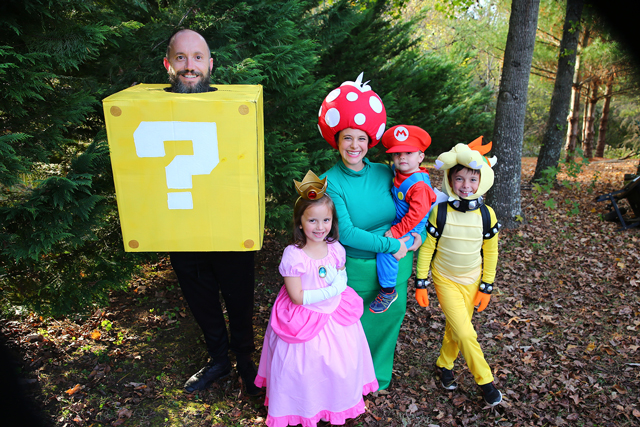 Best Family Halloween Costumes: Super Mario Bros Family Costume