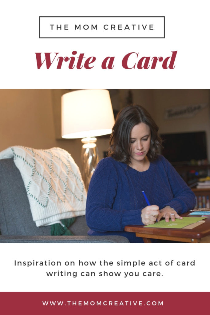 Inspiration on the meaningful gift of card writing