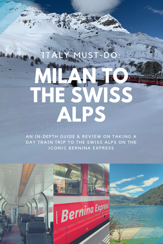 Milan to the Swiss Alps: Plan a day trip to visit the Swiss Alps. See the Alps on the Bernina Express. Full review of the Bernina Express, what you'll see, how long the tour will be and more. A must for any Italy vacation