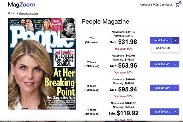 People Magazine Subscription Coupon