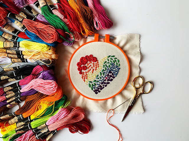 how to learn embroidery