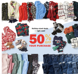 Today Only: 50% off Old Navy, Gap and Banana Republic