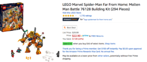 $10 off a $50 Lego Purchase