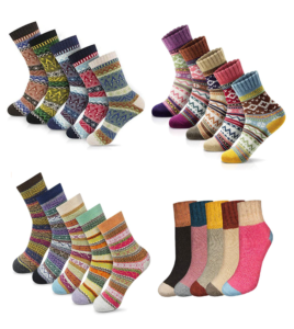 Expired: 5 Pairs of Cozy Winter Socks for $7.49