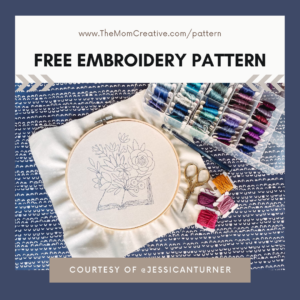 Free Embroidery Pattern: Blooming Books