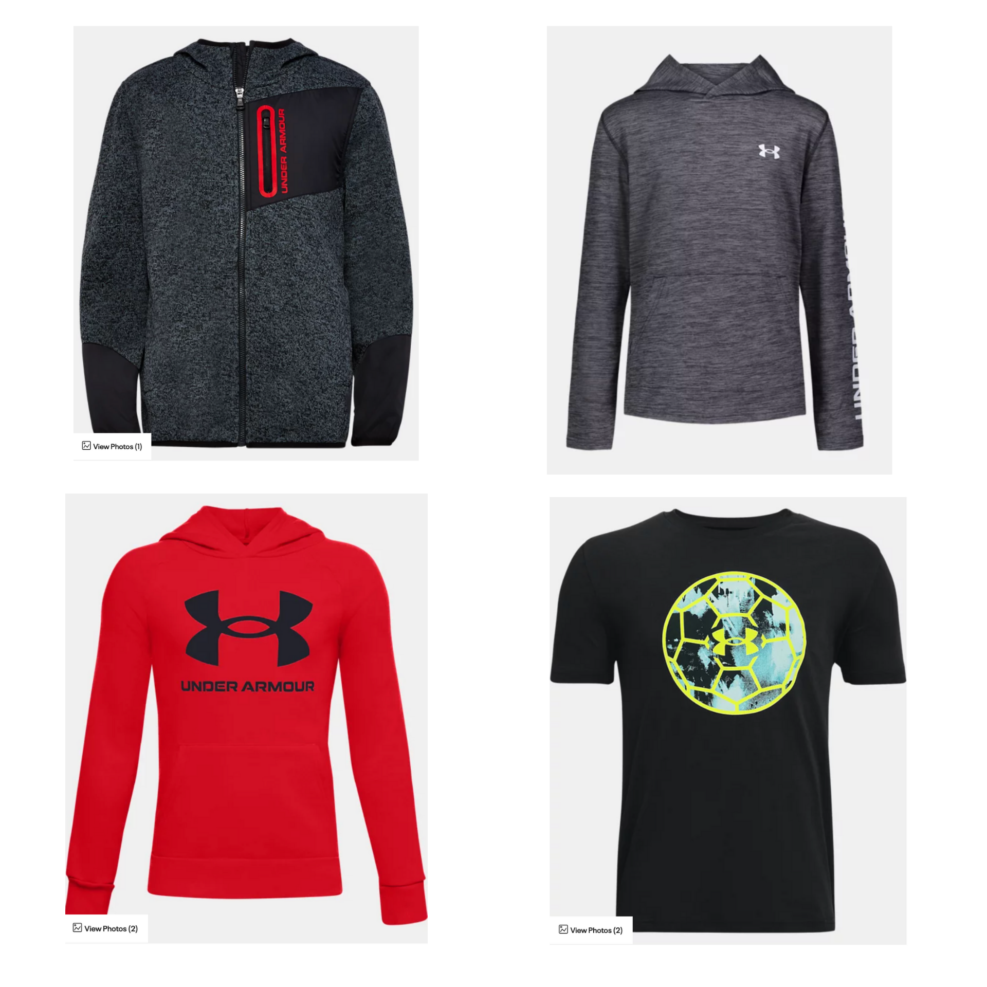 Save 50-75% off Kids Under Armour
