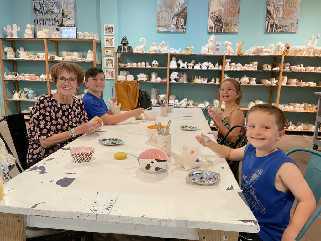 pottery painting in Franklin Tennessee